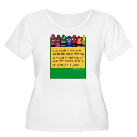 Peaceful Crayons Women's Plus Size Scoop Neck T-Sh