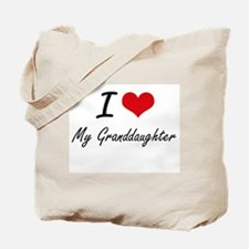 I Love My Granddaughter Tote Bag