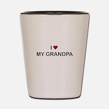 I Love My Grandpa Shot Glass