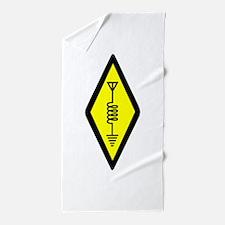 Ham Radio Symbol Beach Towel