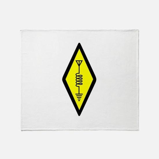Ham Radio Symbol Throw Blanket