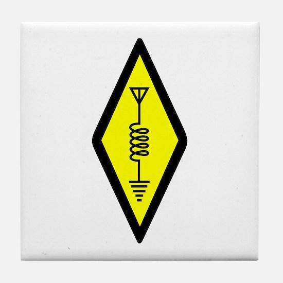 Ham Radio Symbol Tile Coaster