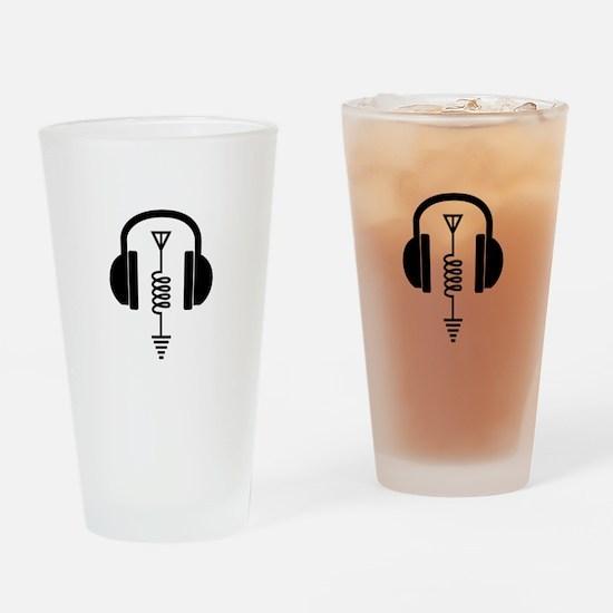 Ham Radio Operator Drinking Glass