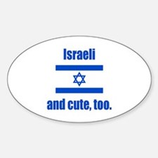Cute Israeli Oval Decal