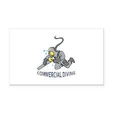 Commercial Diving Rectangle Car Magnet