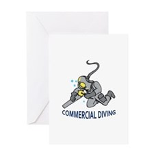 Commercial Diving Greeting Cards