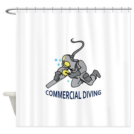 Commercial Diving Shower Curtain By Greatnotions36