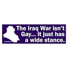 Iraq Wide Stance Bumper Bumper Sticker