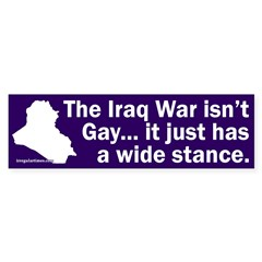 Iraq Wide Stance Bumper Bumper Sticker