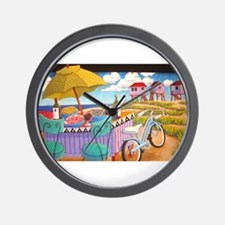 Summer at the Seashore Wall Clock
