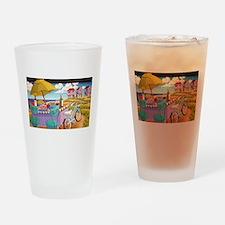 Summer at the Seashore Drinking Glass