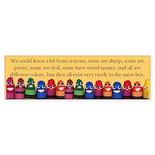 Peaceful Crayons Bumper Bumper Sticker