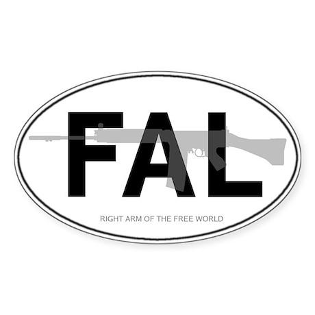 FAL Oval Sticker