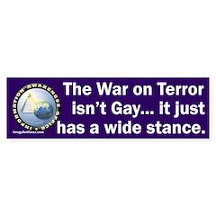 War on Terror Wide Stance Bumper Sticker