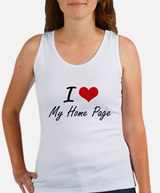 I Love My Home Page Tank Top