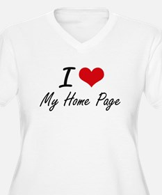 I Love My Home Page Plus Size T-Shirt