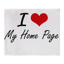 I Love My Home Page Throw Blanket