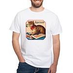 VINTAGE CAT ART White T-Shirt