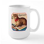 VINTAGE CAT ART Large Mug