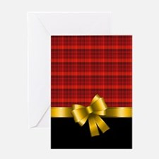 GOLD BOW Greeting Card