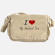I Love My Identical Twin Messenger Bag