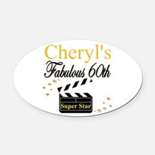 TURNING 60 Oval Car Magnet