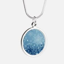 HOLIDAY SPARKLE Silver Round Necklace