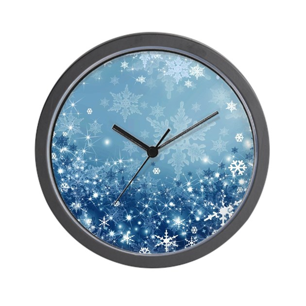 Holiday sparkle wall clock by thechristmasshoppe