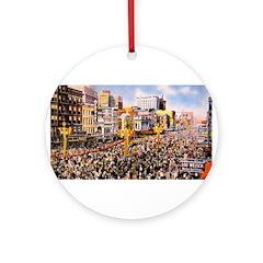 Canal Street on Mardi Gras Da Ornament (Round)