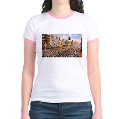 Canal Street on Mardi Gras Da Jr. Ringer T-shirt