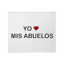 Yo Amo Mis Abuelos Throw Blanket