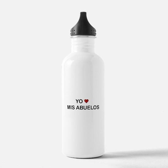 Yo Amo Mis Abuelos Water Bottle