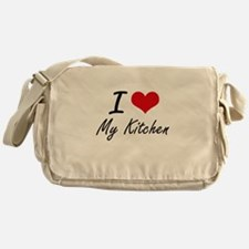 I Love My Kitchen Messenger Bag