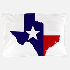 TEXAS LONESTAR WHITE RED Pillow Case