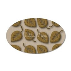 Personalized Golden Leaf Linen Texture Wall Decal