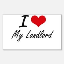 I Love My Landlord Decal