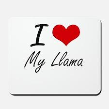 I Love My Llama Mousepad