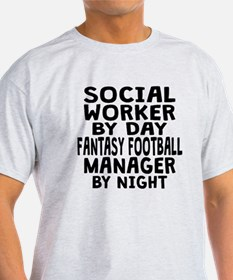 Social Worker Fantasy Football Manager T-Shirt