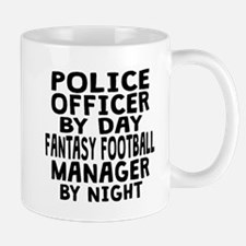 Police Officer Fantasy Football Manager Mugs
