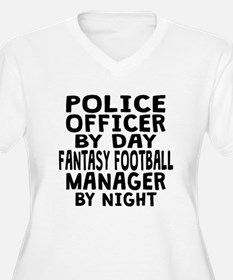Police Officer Fantasy Football Manager Plus Size