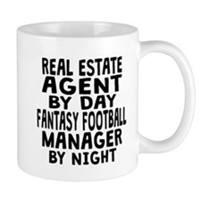Real Estate Agent Fantasy Football Manager Mugs