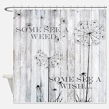Dandelion Wish Shower Curtain
