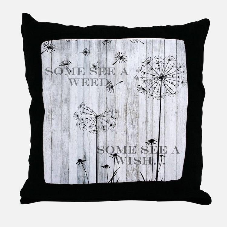 Dandelion Wish Throw Pillow