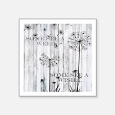 "Dandelion Wish Square Sticker 3"" x 3"""
