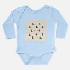 Cute Birthday Bird Long Sleeve Infant Bodysuit