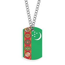 Turkmenistan Flag Dog Tags