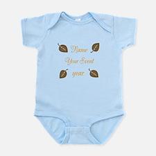 Chic Birthday Leaves Infant Bodysuit