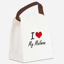 I Love My Mailman Canvas Lunch Bag