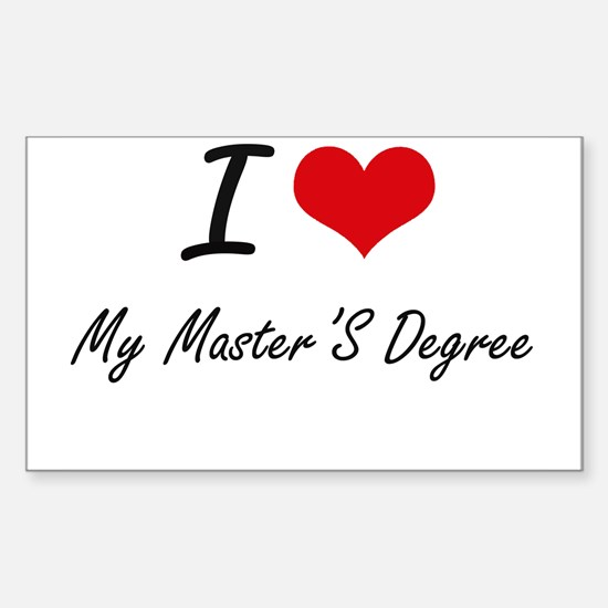 I Love My Master'S Degree Decal