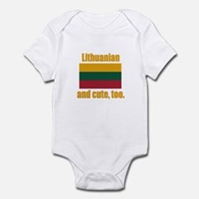 Cute Lithuanian Infant Bodysuit